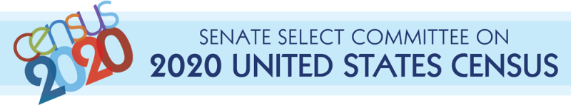 Senate Select Committee on the 2020 United States Census (banner)